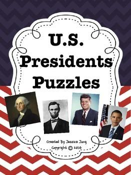 U.S. Presidents Puzzles {44 puzzles!}