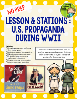 US Propaganda in World War II (WWII)-- Lesson, activity an