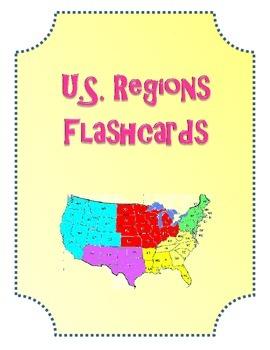 US Regions Flashcards.  US Region Names