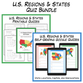 U.S. Regions & States Test Packet