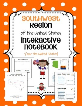 US Southwest Region Interactive Notebook