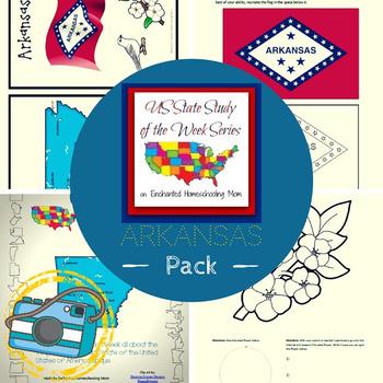 US State Study of the Week Weekly Series Arkansas Pack