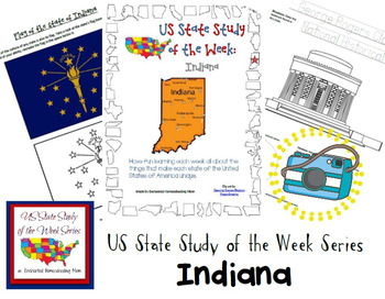 US State Study of the Week Weekly Series Indiana Pack