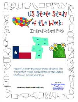 US State Study of the Week Weekly Series Introductory Pack
