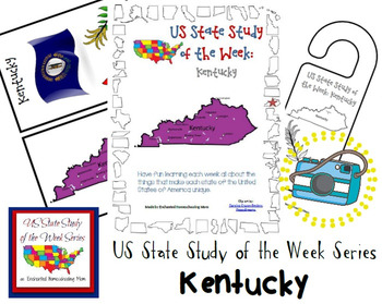 US State Study of the Week Weekly Series Kentucky Pack