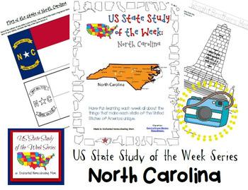 US State Study of the Week Weekly Series North Carolina Pack