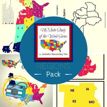 US State Study of the Week Weekly Series Regions Pack