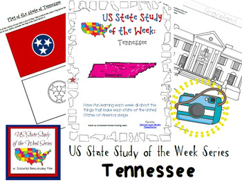 US State Study of the Week Weekly Series Tennessee Pack