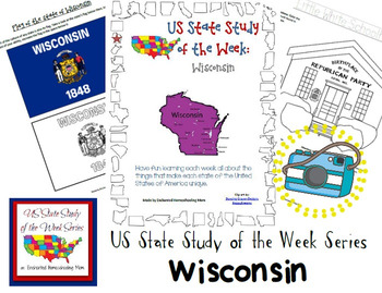 US State Study of the Week Weekly Series Wisconsin Pack