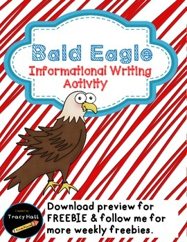 U.S. Symbol Bald Eagle Informational Writing-Freebie inclu