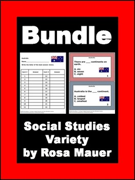 USA & Around the World Social Studies Bundle