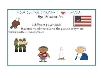 U.S.A. (Symbols) BINGO