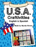 U.S.A. Craftivities (English & Spanish)