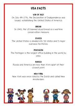 USA Fact Cards