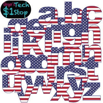 USA Flag * Lower Case Letters * Bulletin Board * Election