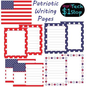 USA Flag * Writing Pages
