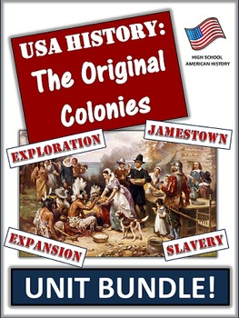 Thirteen Colonies Bundle: 75+ Pages/Slides of Activities a