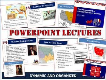 Westward Expansion and Antebellum Period PPT Lecture Bundl