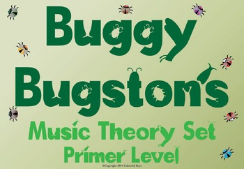 USA Music Theory Worksheets Primer Level - Buggy Bugston
