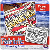 USA Patriotic Coloring Sheet {FREEBIE} #weholdthesetruths