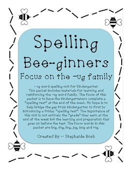 Ug word family - Spelling Beginners