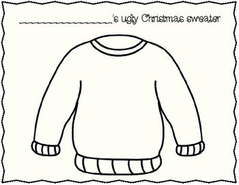 Ugly Christmas Sweater Design and Describe