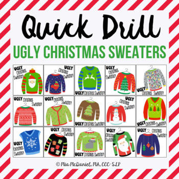 Ugly Christmas Sweater Quick Drill {for any skill drill}