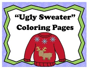 """Ugly Sweater"" Coloring Pages"