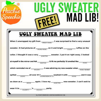 Ugly Sweater Activity (Like A Mad Lib)