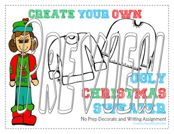 Ugly Sweater - No Prep - Christmas Writing