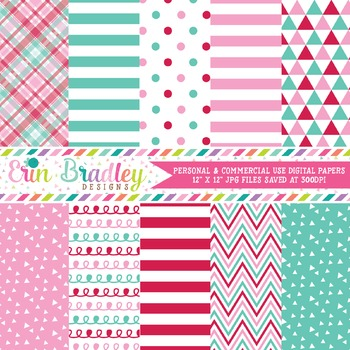 Ugly Sweater Party Pink Digital Paper Pack