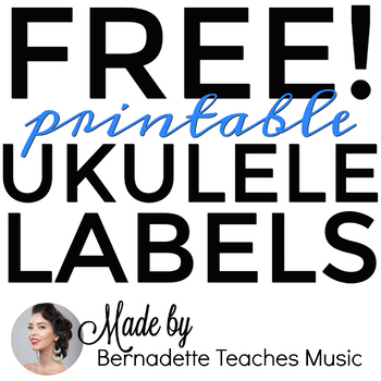 Ukulele Labels (Color-coded and up to #40)