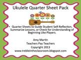 Ukulele Quarter Sheets