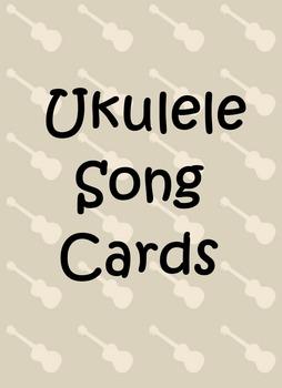 Ukulele Song Cards - Single Deck