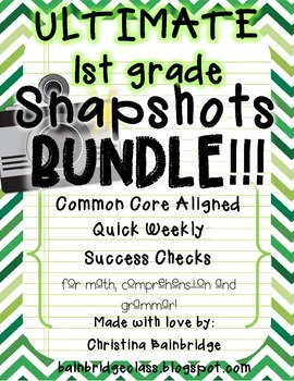 Ultimate 1st Grade Snapshots Bundle- Math, Grammar, and Co