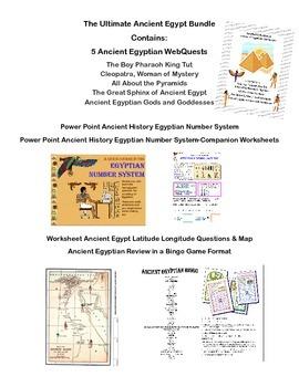 Ultimate Ancient Egypt Bundle-Power Point, Webquests, Work
