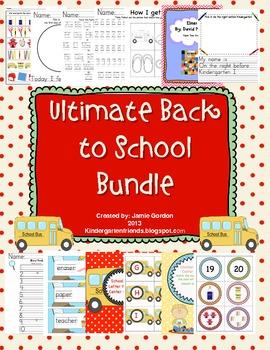 Ultimate Back to School Bundle: Kindergarten