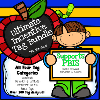 Brag Tag Ultimate Bundle (BW) - Supports PBIS