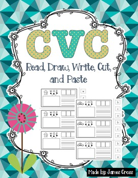 CVC and Word Family Word Work Draw/Write/Cut/Paste