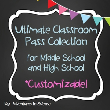 Ultimate Classroom Pass Collection for Middle and High Sch