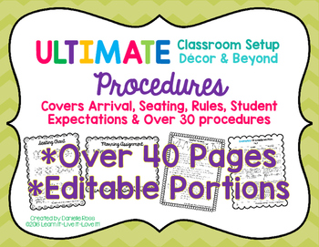 Ultimate Classroom Set Up: Decor & Beyond PROCEDURES