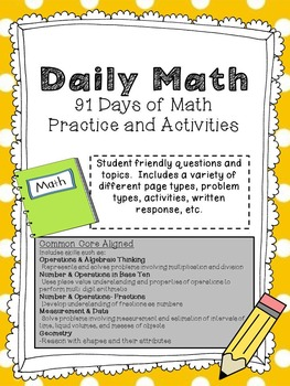 Ultimate Daily Math Practice Half Year Second Bundle: 91 Pages