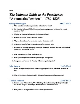 Ultimate Guide to the Presidents Viewing Guides - Complete Series
