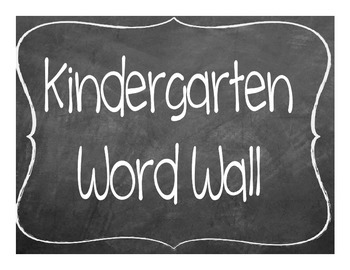 Ultimate Kindergarten Word Wall