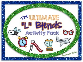 "Ultimate ""L"" Blends Activity Pack- Center activities for c"