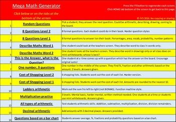 Ultimate Math Activity Generator - Math, Literacy and Fun