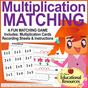 Multiplication - MATCH UP Game with Multiplying Methods -