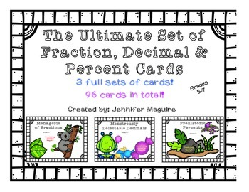 Ultimate Set of Fraction, Decimal & Percent Cards