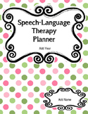 Ultimate Editable Speech Language Therapy Planners
