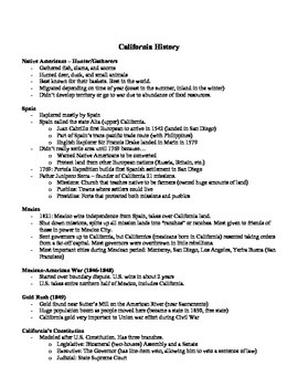 Ultimate Study Guide - California History